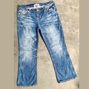 """a83a7837241 Big Star. Big Star""""Maddie""""Straight-leg Distressed Blue Jeans"""